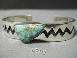 Important Vintage Navajo Tommy Jackson Sterling Silver Bracelet