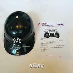 Incredible 1977 Reggie Jackson Game Used Signed New York Yankees Helmet PSA DNA