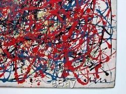 JACKSON POLLOCK Experimental Barn Board Drip Painting 1947