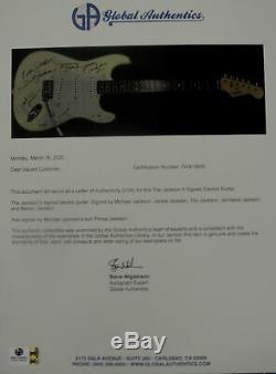 Jackson 5 Signed Autographed Guitar Michael Jackson Tito Jermaine Prince PSA