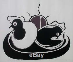 Jackson Beardy 1944-84 Hatching Birds 1975 Native Woodland Art Signed Ltd Ed