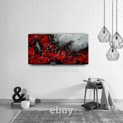 Jackson Pollock Artwork Red Color- Framed Wall Art on Canvas Nandita Albright