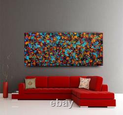 Jackson Pollock Wall Art Abstract Painting Multicolor Original Art by Nandita