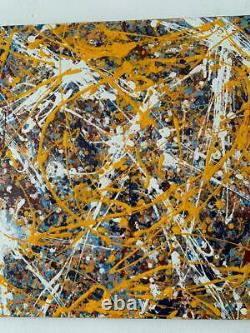 Jackson Pollock oil on canvas painting signed & stamped