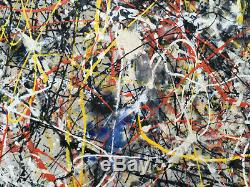 Jackson Pollock painting VERY LARGE Abstract Expressionist Painting