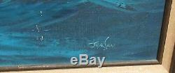 Jackson Sailing Ships Large Original Oil On Canvas Seascape Painting