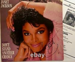 Janet Jackson Hand Signed Autograph LP Authenticated includes TM COA