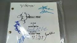 Jurassic Park Signed Movie Script X9 Goldblum Spielberg Neil Jackson