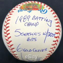 Kirby Puckett HOF 2001 Signed Stat Baseball Reggie Jackson Complete