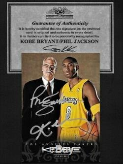 Kobe Bryant/Phil Jackson Panini dual hand signed Autograph Card withCOA