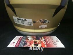 LAMAR JACKSON BALTIMORE RAVENS AUTOGRAPHED FS Full Size AMP Speed Helmet JSA COA