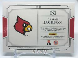 Lamar Jackson 2019 National Treasures Collegiate Patch Auto 35/49