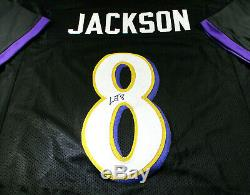 Lamar Jackson / Autographed Baltimore Ravens Black Custom Football Jersey / Coa
