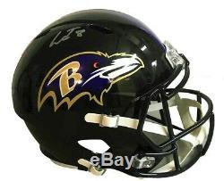 Lamar Jackson Autographed Baltimore Ravens Full Size Speed Rep Helmet JSA Aut