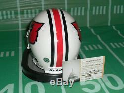 Lamar Jackson Autographed Louisville Cardinals Baltimore Ravens Mini Helmet COA