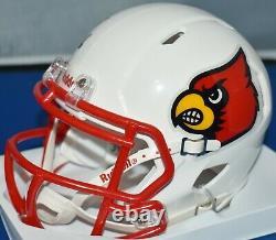 Lamar Jackson Autographed Louisville Cardinals Speed Mini Helmet Heisman 16 Jsa