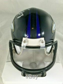 Lamar Jackson / Baltimore Ravens Qb / Autographed Ravens Logo Mini Helmet / Coa