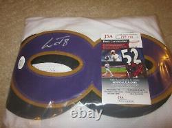 Lamar Jackson Baltimore Ravens Signed Autograph White Custom Jersey JSA Cert