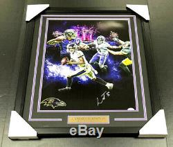 Lamar Jackson Baltimore Ravens Signed Autographed Framed 16x20 Photo Jsa Coa