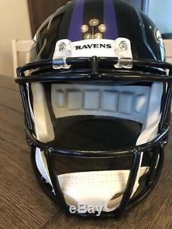 Lamar Jackson Full Size Autographed Speed Replica Helmet. MVP! JSA Certified