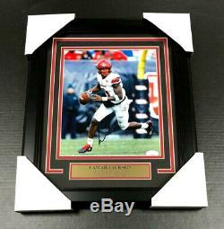 Lamar Jackson Louisville Cardinals Signed Autographed Framed 8x10 Photo Jsa Coa