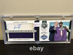Lamar Jackson Rookie Auto 2018 Panini Limited Draft Day Booklet RC! /55