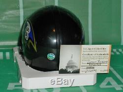 Lamar Jackson Signed Autographed Baltimore Ravens Riddell Style Mini Helmet COA