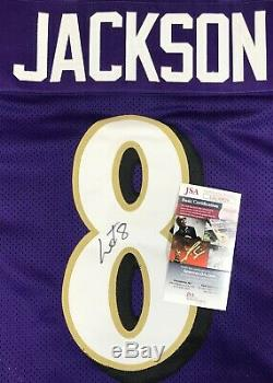 Lamar Jackson Signed Autographed Purple Ravens Pro Style Jersey JSA COA