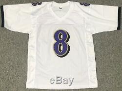 Lamar Jackson Signed Autographed White Ravens Pro Style Jersey JSA COA