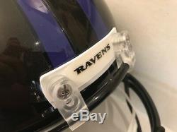 Lamar Jackson Signed Baltimore Ravens Full Size Helmet COA Holo Heisman Winner