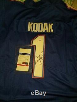 Lamar Jackson Signed Kodak Black Florida Gators Jersey PSA/DNA COA #1 Ravens