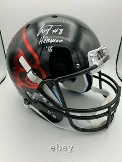 Lamar Jackson Signed Louisville Cardinals Black Schutt Full Size Helmet COA/Holo