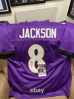 Lamar Jackson Signed Ravens Jersey Jsa Certified Coa Size Xl Mint Condition