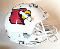 Lamar Jackson signed Louisville Cardinals Full Size Football Helmet JSA COA