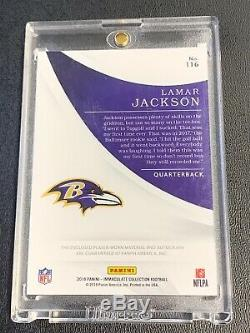 Lamar Jackson2018 Panini Immaculate Rookie Patch Auto RPA 50/99 Ravens HOT