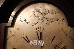 Longcase clock George III mahogany case silver dial signed Jackson Bristol d1798