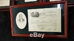 Lot of Historical Signed Memorbilia Jackson, Reagan, Kennedy, Roosevelt, etc