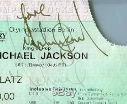 MICHAEL JACKSON AUTOGRAPH PSA/DNA AUTO double signed LOVERARE