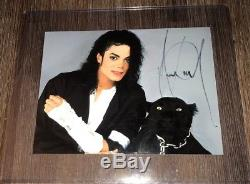 MICHAEL JACKSON Autogramm auf Farbfoto Matt ca. 20x15 cm SIGNED AUTOGRAPH