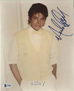 MICHAEL JACKSON KING OF POP SIGNED 8X10 PHOTO Beckett Authenticated