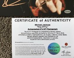 MICHAEL JACKSON King Of Pop Genuinely Hand Signed 8x10 Photo COA