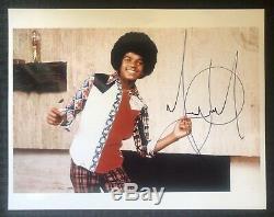 MICHAEL JACKSON King Of Pop Signed Autographed 11 x 14 Photo PSA/DNA LOA