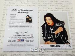 MICHAEL JACKSON SIGNED PHOTO AUTOGRAPH PSA/DNA Certificat Authenticity COA smile