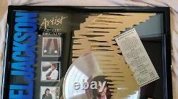 MICHAEL JACKSON Signed Artist Of The Decade MJ Platinum Record Award Non-RIAA