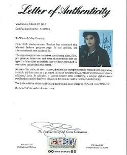 MICHAEL JACKSON Signed Autograph 11x14 Photo PSA LOA Beat it BAD