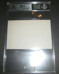 MICHAEL JACKSON Signed Index Card Beckett Authenticated Rare Early Signature