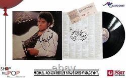 MICHAEL JACKSON THRILLER VINTAGE 1982 VINYL HAND SIGNED + 2 x COA CERTIFICATES