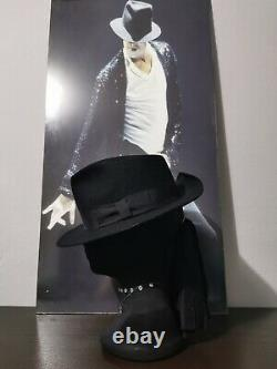 MICHAEL JACKSON s BILLIE JEAN STAGE WORN & THROWN TO AUDIENCE FEDORA -NO SIGNED