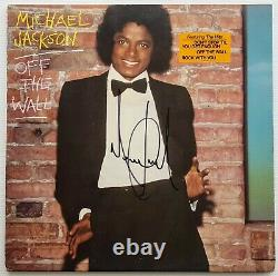 MICHAEL JACKSON signed Off The Wall album autographed after Beatles Stones