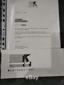 MICHAEL JACKSONs PERSONAL Fedora Medium Size + MJJ PRODUCTION letter -NO SIGNED